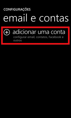 configurar windows phone