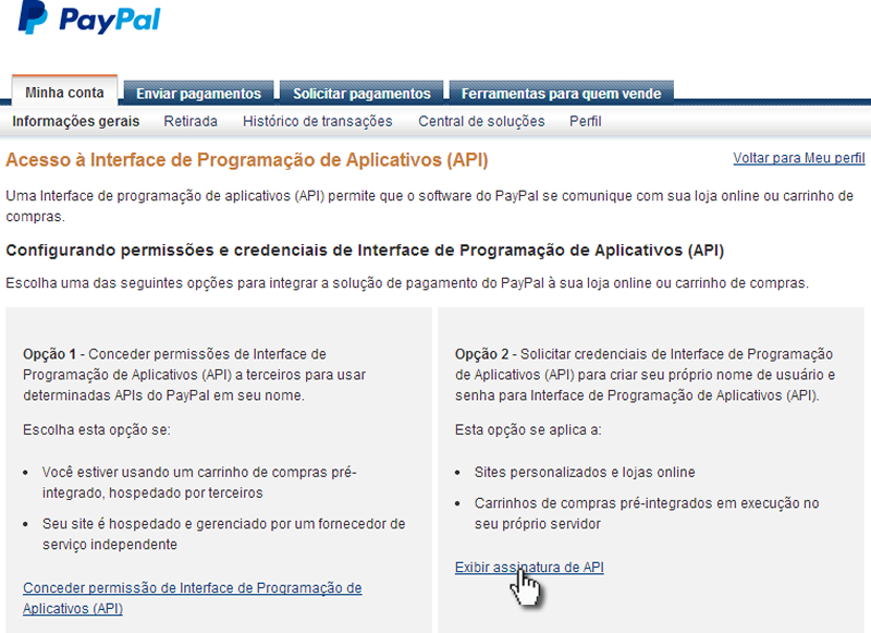 PayPal opcao 2