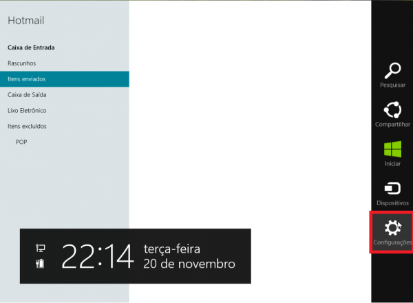 windows 8 configurar email