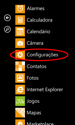 como configurar o windows phone